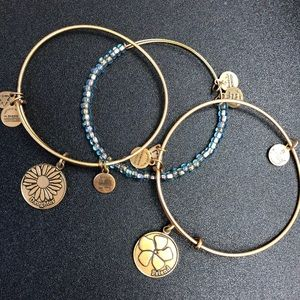 Set of 3 Gold Alex and Ani Bracelets